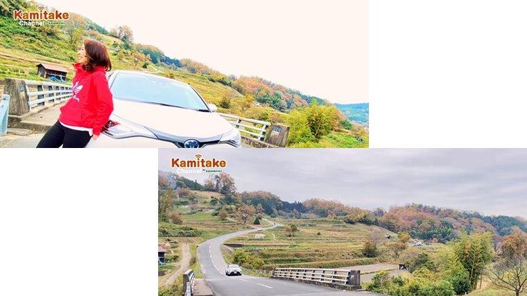 稲渕の棚田の風景